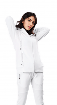 Eggshell hoodie Front close